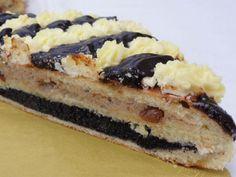 Solčanský skladaník, recept, Koláče | Tortyodmamy.sk Czech Recipes, Dessert Recipes, Desserts, Cheesecake, Food And Drink, Baking, Kitchens, Fine Dining, Cake Shop