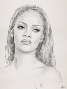 Pencil sketch drawing portrait of Rihanna by Ahmad Kadi Portrait Drawing, Easy Drawings, Drawing People, Rihanna Drawing, Realistic Art, Art, Portrait, Easy Realistic Drawings, Art Drawings Sketches Simple