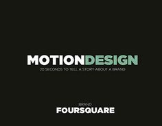 """Check out new work on my @Behance portfolio: """"Motion Design : Foursquare"""" http://be.net/gallery/41531249/Motion-Design-Foursquare"""