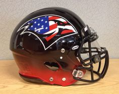 HELMET OF THE DAY!  Check out the up close look at the University of the Incarnate Word Military Appreciation Stars and Stripes football helmets.