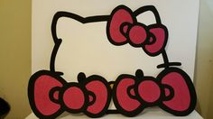 Hello kitty face and bows foam