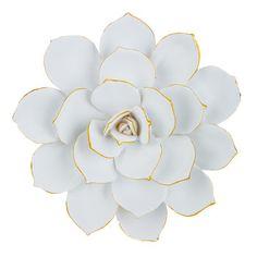 Medium White Cactus Flower Wall Decor