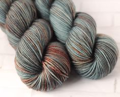 80s New York - Moody Variegated Hand Dyed Yarn - Merino Cashmere Nylon - MCN 8Ply Yarn - Cashmere Yarn - HandDyed Yarn - Light Worsted by ClementineAndThread on Etsy