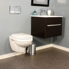 Sophisticated yet simple, the Foremost International Matera wall hung toilet will add a stylish element to your bathroom. #Bathroom