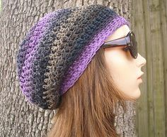 slouchy rasta style crochet hat