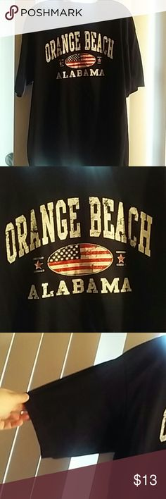 Men's Orange Beach Alabama tee. 2XL Navy tee Red white and blue print Excellent Condition Size 2XL Surf Style.com Shirts Tees - Short Sleeve