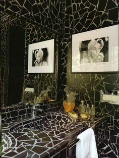 Mosaic tiled vanity