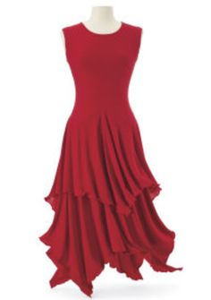 Scarlet Lettuce Edge Dress from Pyramid Collection. I think it would also look good in black.