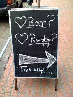 Yeup... pretty accurate. Where there's rugby, there's usually beer.