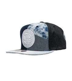 24f718354c069 MITCHELL AND NESS Embroidered Brooklyn Nets logo Denim patches throughout  Adjustable snap closure for custom fit Mitchell and Ness branding NBA