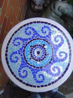 Blue Wave Mosaic Table Top