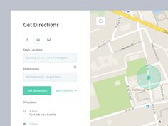 Map Directions UI