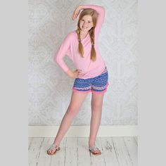 Shop Betwixt - A Tween Boutique in the US; PomPom Shorts in pink. A Betwixt favorite.