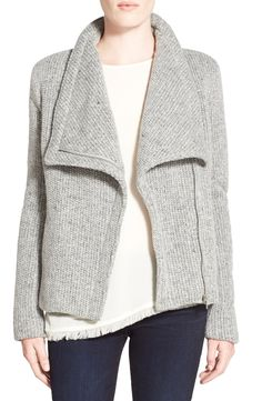 cupcakes and cashmere 'Rue' Drape Collar Knit Jacket