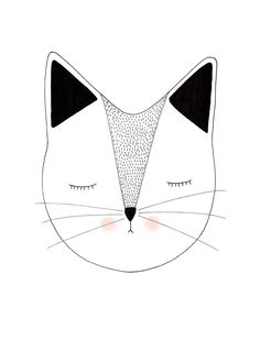 Miss Puss - Lauren Smallfield Creates Drawing For Kids, Art For Kids, Punch Needle, Doodle Art, Doodle Drawings, Easy Drawings, Cat Art, Creations, Illustration Art