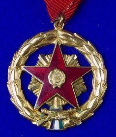 Vintage Hungarian Hungary Soviet Period Medal Order Badge Military Awards, Hungary, Period, Badge, Christmas Bulbs, Holiday Decor, Vintage, Badges, Vintage Comics
