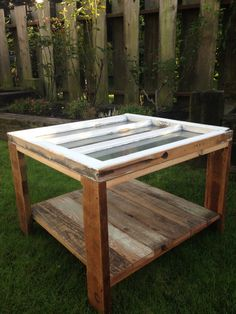 Handcrafted Vintage Window Table by RichmondReclaimed on Etsy