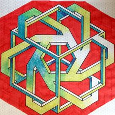Impossible on Behance Illusion Drawings, Illusion Art, Isometric Art, Isometric Design, Sacred Geometry Patterns, Geometric Patterns, Escher Art, Impossible Shapes, Graph Paper Art
