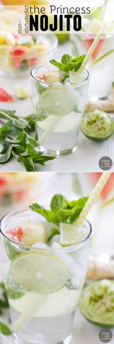 Not your normal mojito! This non-alcoholic Nojito Mocktail is based off of the delicious drink served onboard Princess Cruises.