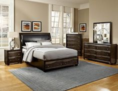 The Redondo Platform Bedroom Set features the eye-catching Finish and wave design of the Redondo Collection makes it a stylish choice for your home. With a weat Modern Bedroom, Furniture Sets, Furniture, Home Furniture, Bedroom Set, Platform Bedroom, Home Decor, Homelegance, Mid Century Modern Bedroom