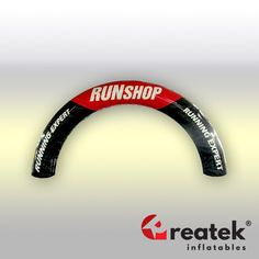 Event advertising inflatable arch with full digital print. Europe's leading manufacturer of inflatable advertising REATEK. Logo Shapes, Bouncy Castle, Indoor Playground, Finish Line, Grand Opening, Digital Prints, Advertising, Europe, Arches
