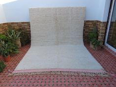 Fluffy Rug, Geometric Designs, Moroccan, Craft Supplies, The 100, Hand Weaving, Creamy White, Wealth, Pure Products