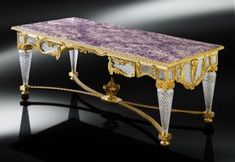 Crafted and designed according to the ancient Florentine techniques, Baldi classic furnitures give shape to dreamlike interiors Pitti table in amethyst, crystal and gold plated bronze Furniture Near Me, Gold Furniture, Unique Furniture, Furniture Design, Luxury Furniture Stores, Classic Artwork, Classic Furniture, Luxury Interior, Decorative Accessories
