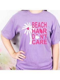 www.ewam.com Beach Hair Don't Care Comfort Colors Adult Ring-Spun Cotton Tee Wholesale Fashion, Wholesale Clothing, Cotton Tee, Spun Cotton, Beach Weather, Beach Hair, Comfort Colors, Don't Care, Fashion Outfits