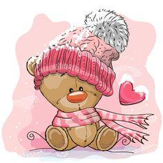 Скрапбукинг, рукоделие, Новогодние картинки с милыми животными