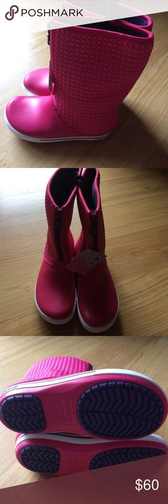 🆕Crocband 11.5 Winter High Boots Brand new with tags and plastic bag. Never worn. Color: raspberry. Size: W9 CROCS Shoes Winter & Rain Boots