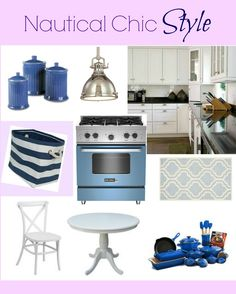 Nautical Chic may have originated in the fashion world, but also applies to decor. Nautical chic is defined by elements like alternating horizontal stripes of blue and white, color combinations of blue, white and red and images of rope, anchors and shells.