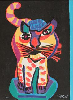 By Karel Appel (1921-2006), 1978, The Circus Suite, Le Chat Clown from Portfolio III, Woodcut with Embossing.