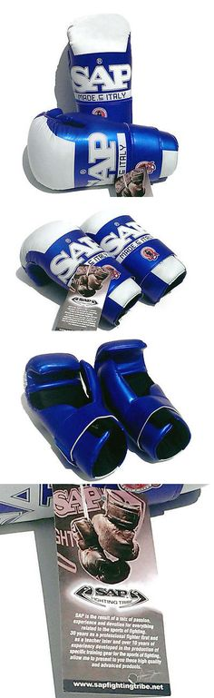 Other Combat Sport Protection 179783: Sap Fighting Tribe Karate Sparring Gloves Blue White Open Hand Pads Size Xl -> BUY IT NOW ONLY: $30 on eBay!