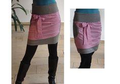 Sweatrock Eyna/ grau-pink nuf noch in Gr. m von lisi-design auf DaWanda.com