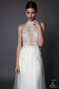 Armanda - Muse by BERTA - Brand new luxury diffusion line by the biggest name in Bridal, coming soon to www.sibridal.com #sibridal #muse #berta #musebyberta #weddingdress #bridal