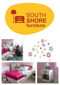 South Shore Furniture - Decor & Decals for Kids Rooms #OTTOGRAFFit #SouthShoreFurniture #ad