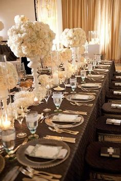 Chocolate and cream tables.