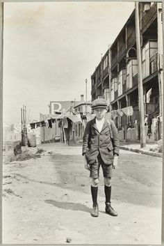 George Robinson of Harrington St, taken in Cambridge St 1924 The Rocks NSW. History Sydney NSW