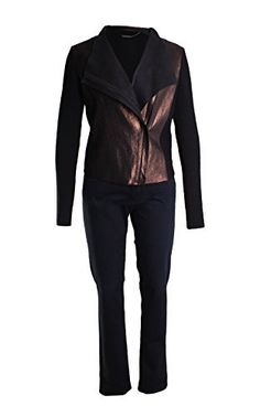 A Thin, Practical, and Beautiful jacket is almost impossible to create; however, Elie Tahari made it possible. This metallic biker girl jacket will keep you warm and stylish all winter long. Pair with skinny jeans and tall boots and you will be unstoppable. Wool jacket designed with textured...  More details at https://jackets-lovers.bestselleroutlets.com/ladies-coats-jackets-vests/casual-jackets/product-review-for-elie-tahari-courtney-leather-wool-metallic-jacket-in-black/