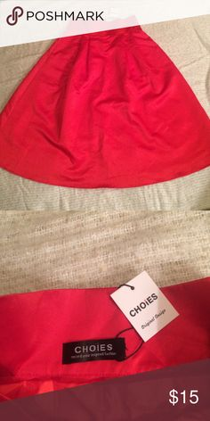 NWT High-Waisted Red Satin Skirt-10 Gorgeous piece.  I bought with the idea I would tailor it to fit me.  Now it just sits.  Please someone enjoy this piece for me! CHOIES Skirts A-Line or Full