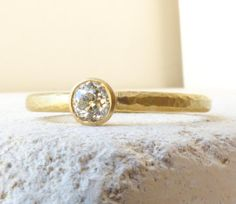 Old Mine Cut Diamond Engagement Ring. 0.20cts by ShaktiEllenwood