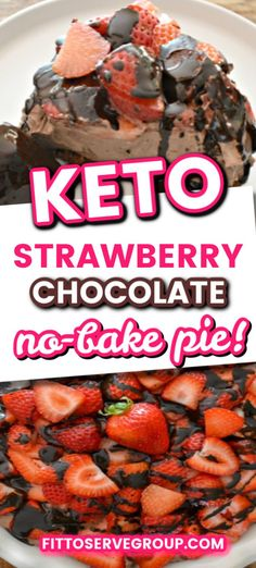This luscious keto no-bake strawberry chocolate cheesecake will make the keto diet a delicious breeze. The recipe is an easy no-bake grain-free sugar-free and it doesnt even require the use of an oven. It's truly easy as pie! Low Carb Sweets, Low Carb Desserts, Healthy Dessert Recipes, Keto Recipes, Breakfast Recipes, Baked Strawberries, Chocolate Strawberries, Keto Foods, Chocolate Cheesecake