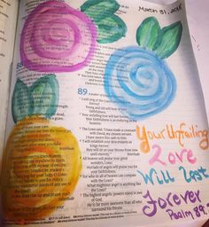 #biblejournaling #unfailinglove❤️ #watercolors My Bible, The Covenant, Great Friends, Lord, Bullet Journal, Studying, Drawings, Watercolors, Journaling