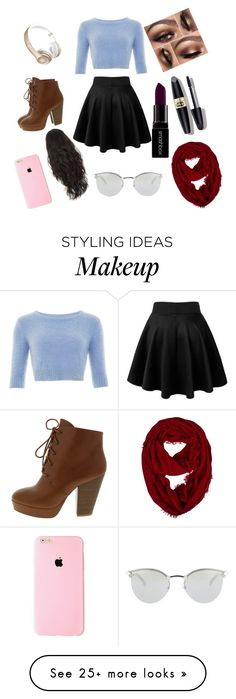 """My ideal outfits"" by lillyruth on Polyvore featuring Max Factor, Smashbox, Beats by Dr. Dre, Fendi, women's clothing, women's fashion, women, female, woman and misses"