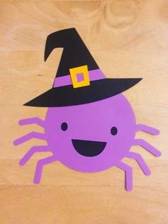 Spider friend for Halloween (cardstock cut out 8 x 7 inches. Halloween Craft Activities, Halloween Arts And Crafts, Halloween Crafts For Toddlers, Halloween Crafts For Kids, Toddler Crafts, Halloween Crafts For Kindergarten, K Crafts, Daycare Crafts, Classroom Crafts