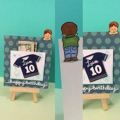 Art Impressions Rubber Stamps: Mini Front and Backs: Boy & Girl Mini Set (Sku #4403) ... handmade gift card holder.