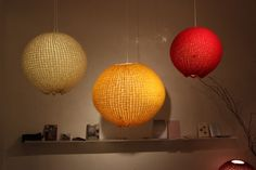 great idea - knitted lampshades