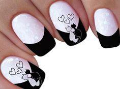 25 de 200 Imagens Adesivos para Unha-Parte 2 (+Oferta) - IMAGENS DE ADESIVOS DE UNHAS Nail Art Designs, Square Nail Designs, Acrylic Nail Designs, Acrylic Nails, Cat Nail Art, Cat Nails, Nail Art Disney, Mickey Nails, Valentine Nail Art