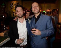 Derren with his partner Marc at the Infamous Celebrity Gala Night After Party, Leicester Square, London on 1.7.13 :D