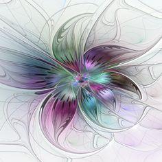 Fraktal Farbenfrohe Blume abstrakt                                                                                                                                                                                 Mehr